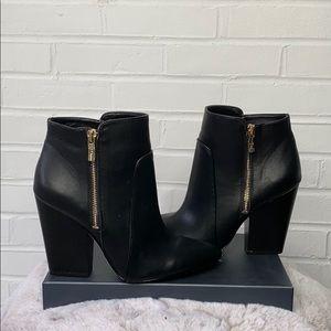 Black gold BCBGeneration heeled booties